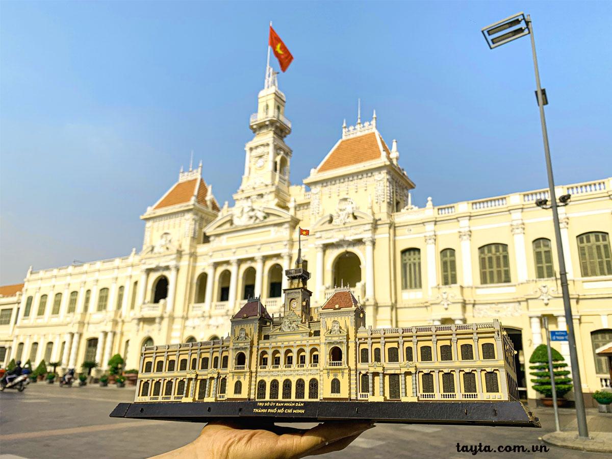 Tự làm Mô hình giấy 3D Trụ sở UBND TP.HCM và mang đi check in tại tòa nhà đẹp nổi tiếng tại Sài Gòn.