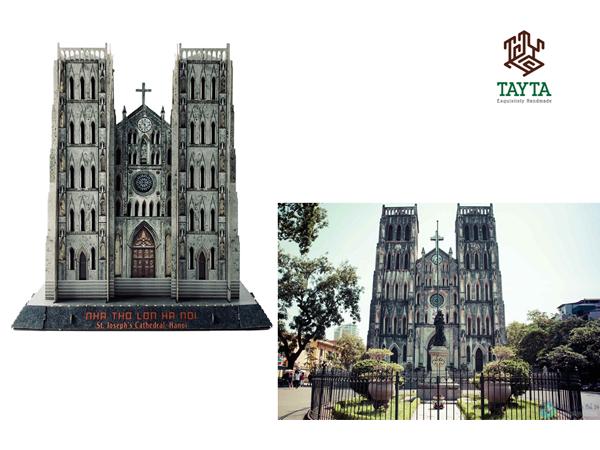 Nếu bạn đã từng đến Nhà thờ Lớn Hà Nội, chắc chắn bạn sẽ không khỏi trầm trồ  khi nhìn thấy màu sắc Mô hình giấy 3D TAYTA chuẩn xác đến 99% đúng không nào? ^^