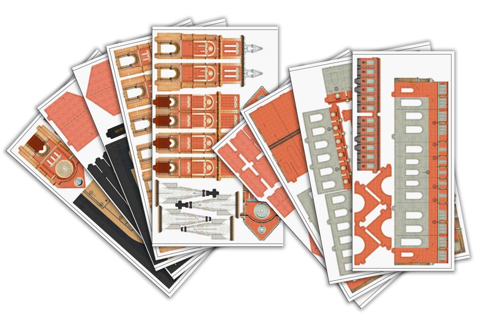 Bộ kit Mô hình giấy 3D TAYTA được cắt laser sắc sảo, nằm gọn gàng.