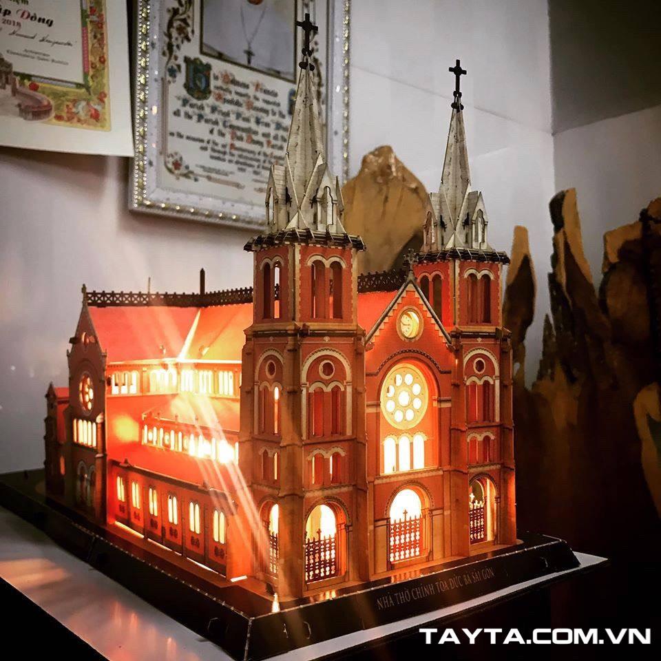 Mô hình giấy 3D TAYTA tích hợp đèn led đẹp mắt