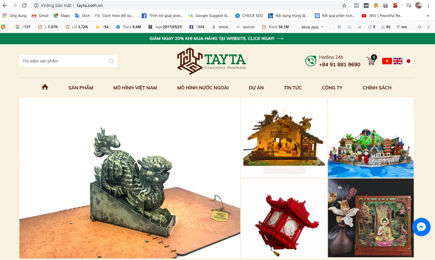 Mua thiệp 3D tại website Tayta để nhận được nhiều ưu đãi