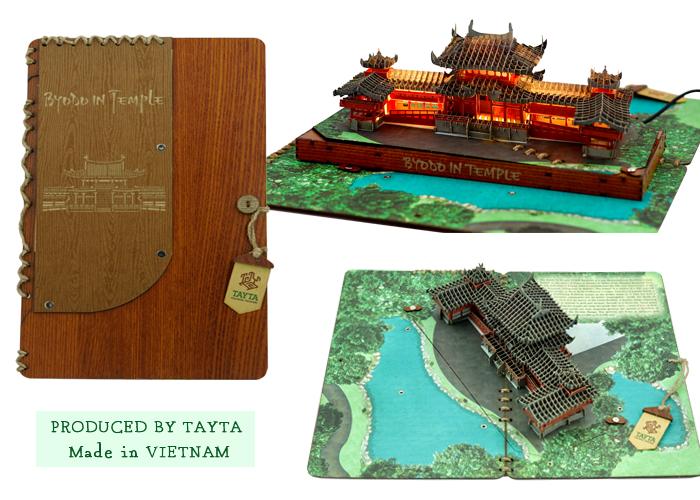Thiết kế Thiệp 3D chùa Byodo