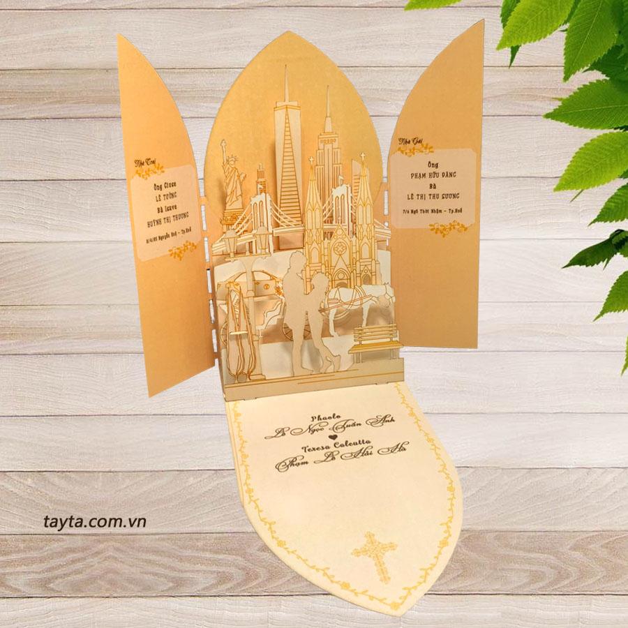 Thiệp cưới 3D thiết kế cho khách hàng từ Mỹ