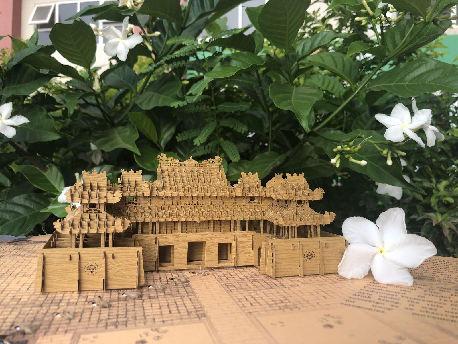 Ảnh: Thiệp 3D Ngọ Môn Huế do Tayta thiết kế với chi tiết tỉ mỉ