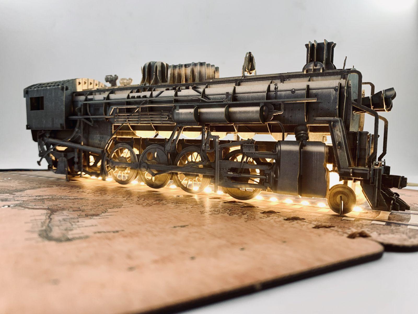 Thiệp 3D con tàu tích hợp đèn led ngay bên trong Bìa