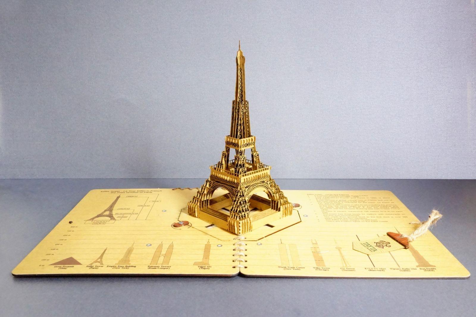Thiệp 3D Tayta có độ tỉ mỉ cao, với hàng trăm chi tiết ráp nối với nhau