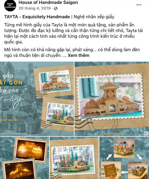 Thiệp 3D Tayta được bán tại House of Handmade Saigon
